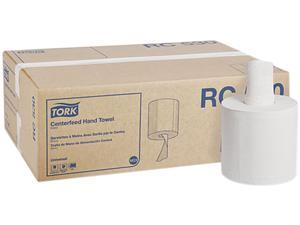 """Tork RC530 Centerfeed Hand Towel, 2-Ply, 7.6"""" x 11.75"""", White, 530 / Roll, 6 Roll / Carton"""