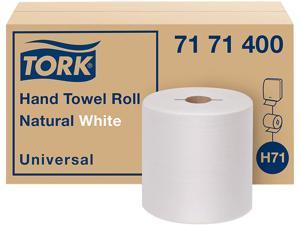 """Tork 7171400 Universal Hand Towel Roll, Notched, 1-Ply,7.5"""" x 10"""", Natural White, 960 / Roll, 6 / Carton"""