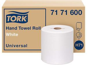 """Tork 7171600 Universal Hand Towel Roll, Notched, 1-Ply, 7.5"""" x 10"""", White, 756 / Roll, 6 / Carton"""
