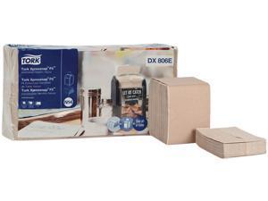 "Tork DX806E Xpressnap Fit Interfold Dispenser Napkins, 2-Ply, 6.5"" x 8.39"", Natural, 120/Pack, 36 Packs/Carton"