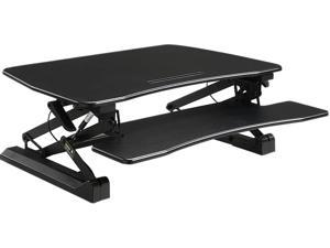 Lorell LLR99553 V2 Adjustable Desk Riser - Black