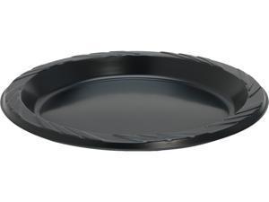 Genuine Joe 10429CT Round Plastic Black Plates