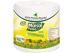 MarcalPro MAC 5001 Premium 100% Recycled Bath Tissue, 2-Ply, White, 4.3 x 3.66, 504/Roll