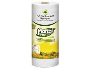"MarcalPro MAC 610 100% Premium Recycled Perforated Towels, 11.00"" x 9.00"", White, 70 / Roll"