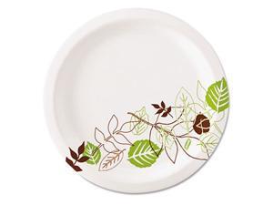 "Dixie UX9PATH Pathways Paper Plates, 8.5"", Green/Burgundy, 1000/Carton"