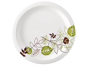 "Dixie UX7WSPK  Pathways Design Everyday Paper Plates 6.88"" Diameter Plate - Paper - 125 / Pack"