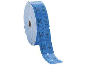 PM Company 59004 Consecutively Numbered Double Ticket Roll, Blue, 2000 Tickets/Roll