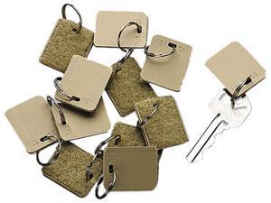 SecurIT Extra Blank Hook-and-Loop fastener Tags, Hook-and-Loop fastener Security-Backed, 1-1/8 x 1, Beige, 12/Pack