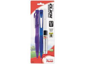 Pentel Twist-Erase CLICK Mechanical Pencil, 0.50 mm, Assorted Barrels, 2/Pk