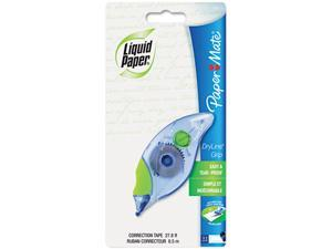 "Paper Mate Liquid Paper 660415 DryLine Grip Correction Tape, Non-Refillable, 1/5"" x 335"""