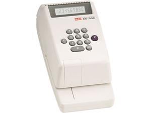 Max EC-30A 10-digit Print Electronic Check Writer, Personal, Business - White