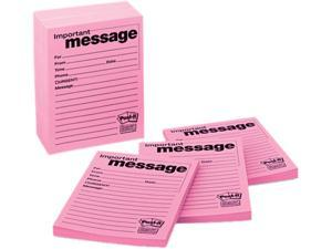 Post-it Super Sticky 7662-12-SS Super Sticky Message Pad, 3-7/8 x 4-7/8, Lined, Pink, 12 50-Sheets Pads/Pack