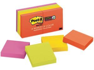 Post-it Notes Super Sticky 622-8SSAN Pads in Electric Glow Colors, Ninety 2 x 2 Sheets, 8 Pads/Pack