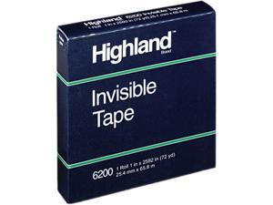 """Highland 620025921 Invisible Tape, 1"""" x 2592"""", 3"""" Core"""