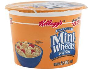 Kellogg's 42799 Breakfast Cereal, Frosted Mini Wheats, Single-Serve, 6 Cups/Box
