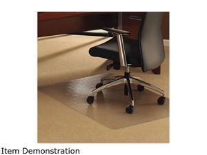 Floortex 1115227ER Ultimat Chair Mat for Plush Pile Carpets, 48 x 60, Clear