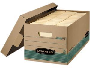Bankers Box 1270201 - Stor/File Storage Box, Legal, Locking Lift-off Lid, Kraft/Green, 12/Carton