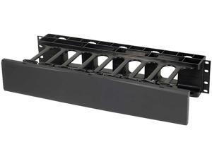 C2G 2U Single-Sided Horizontal Cable Management Panel