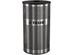 Ex-Cell VCT-33PERF-S Stainless Steel Trash Receptacle; 33 gal; Stainless Steel