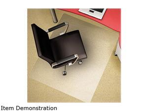 """Deflect-o CM11442FPC Polycarbonate 46"""" x 60"""" Rectangle-All Pile Chair Mat - Clear"""