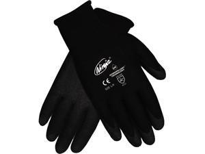 Memphis N9699M Ninja HPT PVC coated Nylon Gloves, Medium, Black, 1 Pair