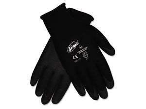 Memphis N9699L Ninja HPT PVC coated Nylon Gloves, Large, Black, 1 Pair