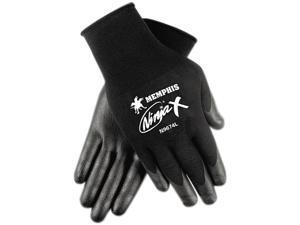 Memphis N9674L Ninja X Bi-Polymer Coated Gloves, Large, Black