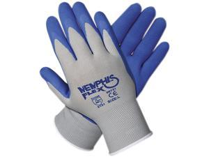 Memphis 96731L Memphis Flex Seamless Nylon Knit Gloves, Large, Blue/Gray, 1 Pair