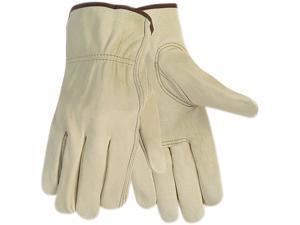 Memphis 3215L Economy Leather Driver Gloves, Large, Cream