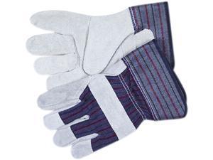 Memphis 12010L Split Leather Palm Gloves, Gray