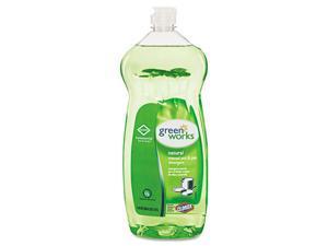 Clorox 30381 Green Works Pot & Pan Detergent, Natural Scent, 38 oz Bottle
