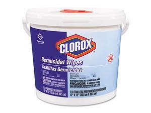Clorox 30358 Germicidal Wipes, 12 x 12, White, 110/Canister