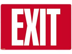 COSCO 098052 Glow-in-the-Dark Safety Sign, Exit, 12 x 8, Red