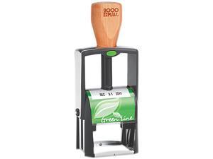2000 PLUS Green Line 039307 2000 PLUS Green Line Self-Inking Heavy Duty Stamp, 1 1/4 x 5/8, Black