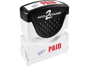 Accustamp2 035535 Accustamp2 Shutter Stamp with Microban, Red/Blue, PAID, 1 5/8 x 1/2
