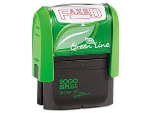 2000 PLUS Green Line 035349 2000 PLUS Green Line Message Stamp, Faxed, 1 1/2 x 9/16, Red