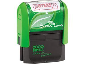 2000 PLUS Green Line 035348 2000 PLUS Green Line Message Stamp, Entered, 1 1/2 x 9/16, Red