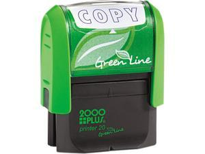 2000 PLUS Green Line 035347 2000 PLUS Green Line Message Stamp, Copy, 1 1/2 x 9/16, Blue