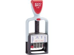 "COSCO 011033 2000 PLUS Two-Color Word Dater, ""Paid,"" Self-Inking"