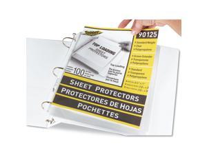 C-line 90125 Top-Load Polypropylene Sheet Protectors, Standard, Letter, Clear, 100/Box