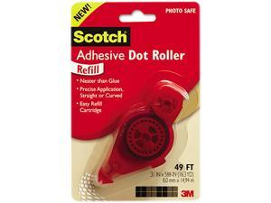 Scotch Adhesive Dot Roller Value Pack 0.3 in x 49 ft 4//PK 6055BNS