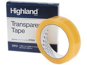 """Highland 591012592 Transparent Tape, 1"""" x 2592"""", 3"""" Core, Clear"""