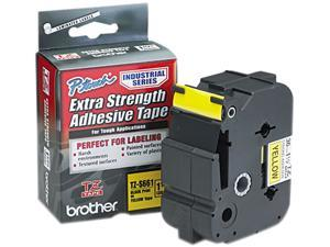 BROTHER TZE-S661 1.5 IN. BLACK ON YELLOW EXTRA STRENGTH TAPE