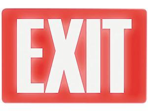 Headline Sign 4792 Glow In The Dark Sign, 8 x 12, Red Glow, Exit
