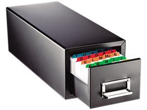 STEELMASTER by MMF Industries 263F3516SBLA Drawer Card Cabinet Holds 1,500 3 x 5 cards, 7 3/4 x 18 1/8 x 7