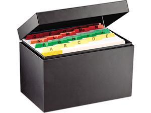 STEELMASTER by MMF Industries 263855BLA Index Card File Holds 500 5 x 8 cards, 8 3/4 x 5 1/8 x 6