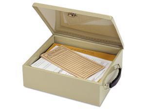 MMF Industries 221615103 Jumbo Cash Box w/Lock, Sand