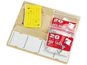 "STEELMASTER by MMF Industries 201304003 File Drawer Key Rack, 40-key, Molded Plastic, Sand, 12"" x 1 3/4"" x 10"""