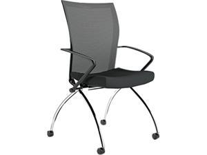 Mayline TSH1BB Valoré Series High-Back Nesting Chair, Mesh / Fabric, Black, 2/Carton