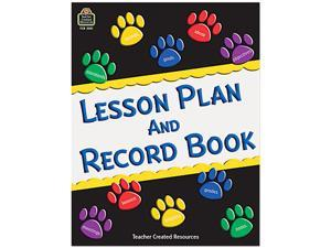Teacher Created Resources 2551 Paw Prints Lesson Plan & Record Book With Monthly Planner, 160 Pages, 8-1/2 x 11